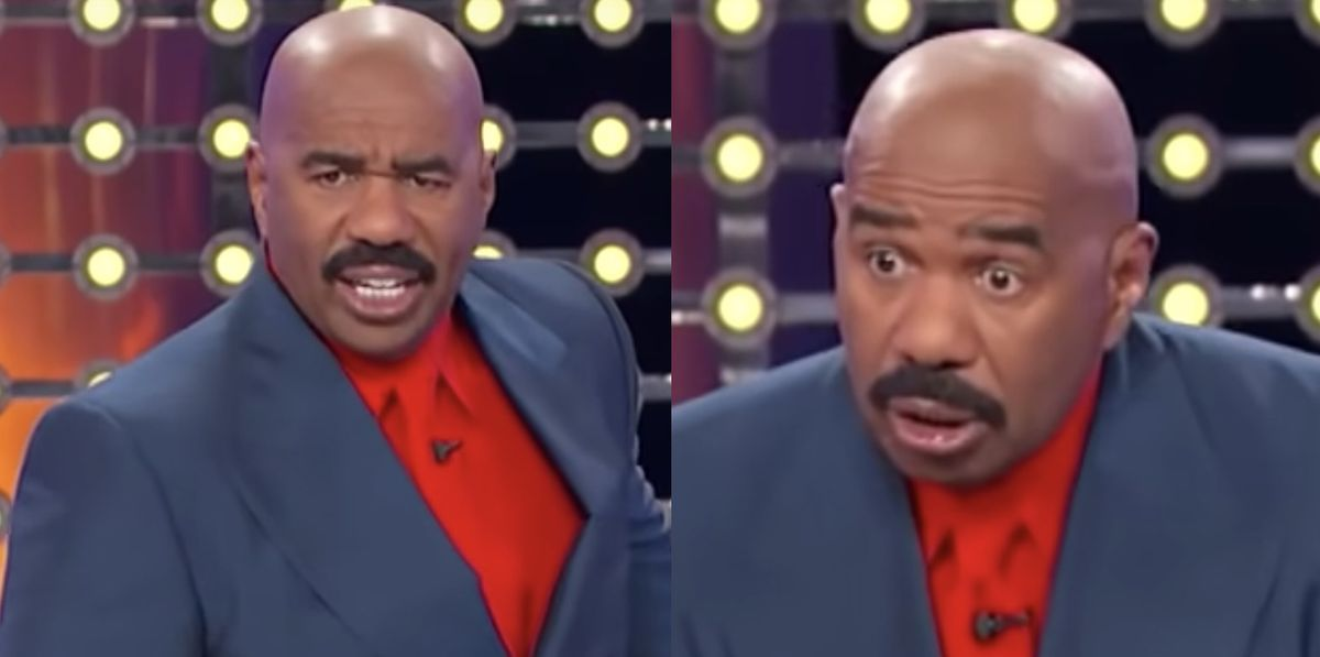See Steve Harvey EXPLODE Over a 'Family Feud' Answer During a 'Stupid Game'
