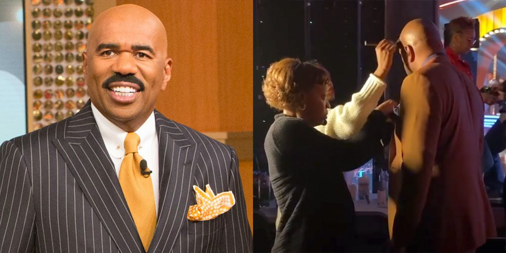 Steve Harvey Shares Rare Behind-the-Scenes Instagrams of What 'Celebrity Family Feud' Is Really Like