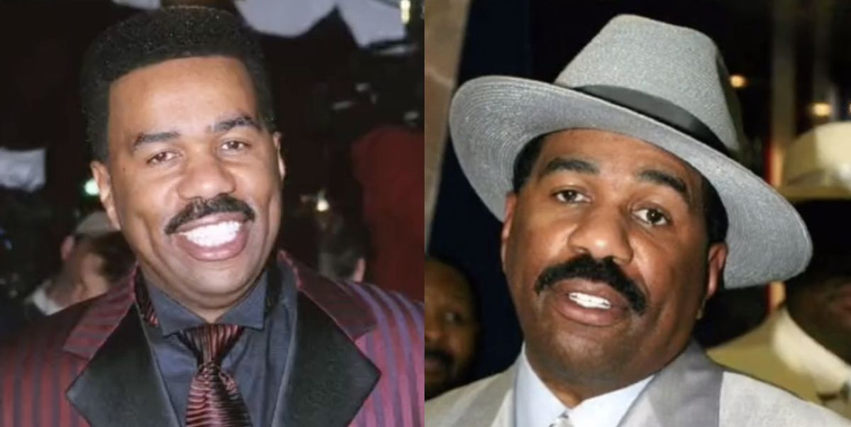 Steve Harvey Fans Came to His Defense on TikTok After He Showed Off Throwback Photos