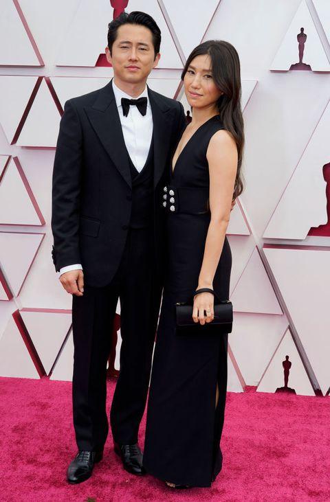 Steven Yeun and Joana Pak