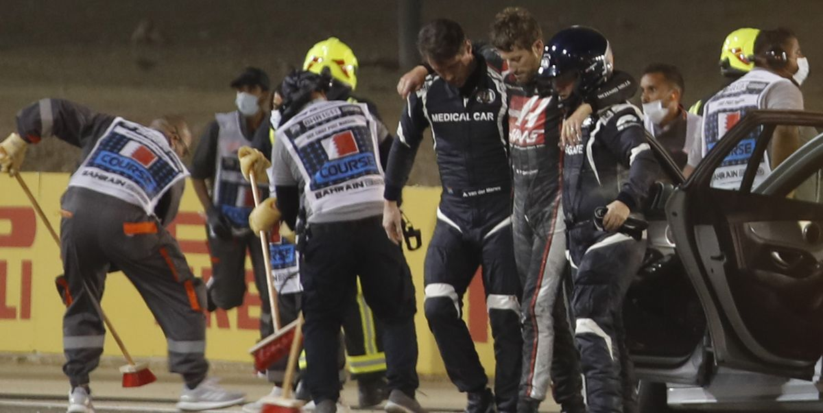 F1 Drivers Debate Merits of Showing Grosjean Crash Video ... Over and Over and Over