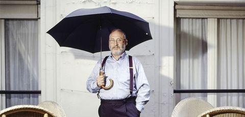 Umbrella, Fashion accessory, Uniform, Rain, Smile,