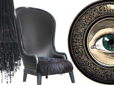 Stile noir Arredi ispirati alla favola Barbablù.