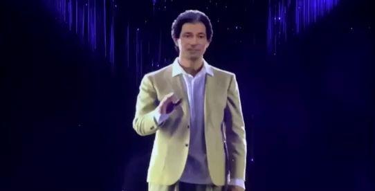 a hologram of robert kardashian