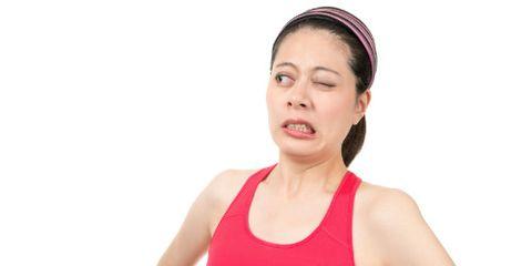 Stinkeye Woman in Red Top