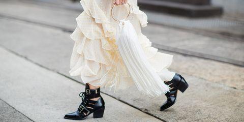 White, Photograph, Wedding dress, Street fashion, Dress, Footwear, Fashion, Bridal clothing, Shoe, Bride,