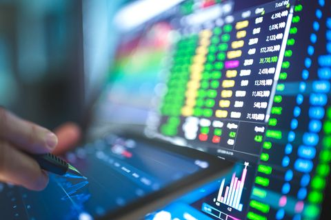 stock business financial economic background turnaround from bottom recession industrial sector from coronavirus ,covid 19, global stock investment