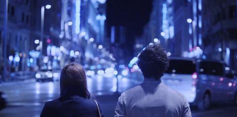 Blue, People, Purple, Cobalt blue, Crowd, Electric blue, Night, City, Photography, Performance,