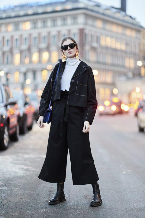 look total black, look monocromo, come abbinare il nero, come indossare il nero