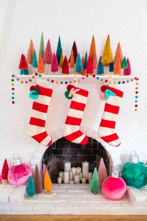 felted stripe stocking