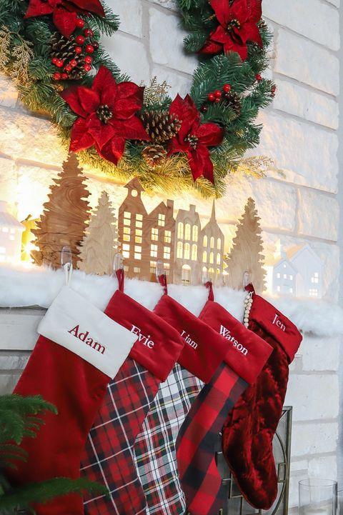village stocking hangers