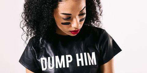 Black, T-shirt, Nose, Black hair, Lip, Neck, Forehead, Mouth, Album cover, Top,