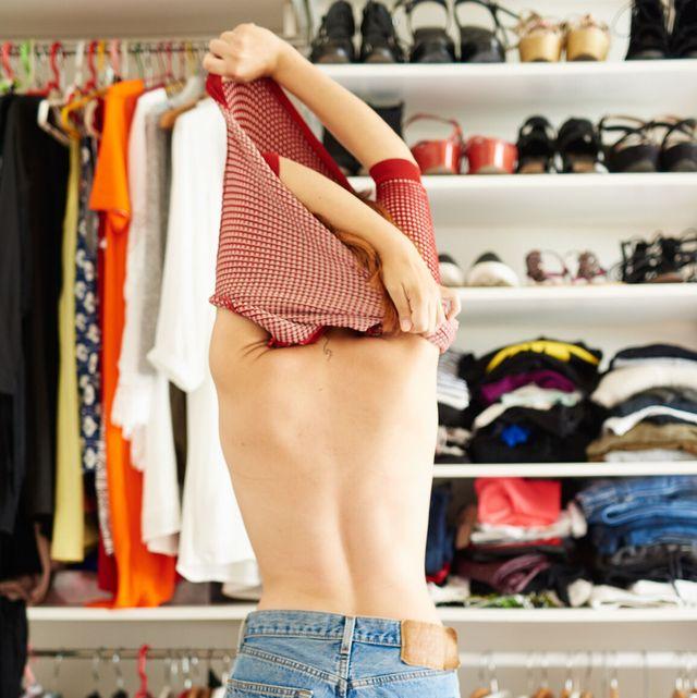 Clothing, Room, Closet, Shorts, Fashion, Leg, Waist, jean short, Outerwear, Jeans,