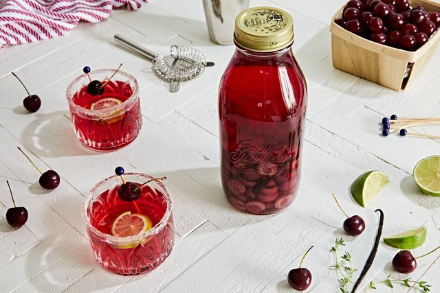 cherry, vanilla, and thymeinfused vodka