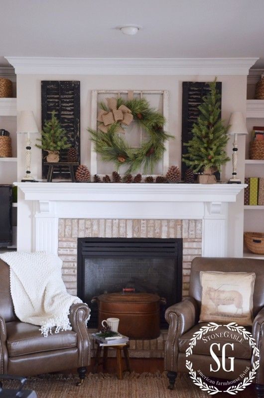 40 Mantel Decor Ideas, Decorating Fireplace Mantel Farmhouse Style