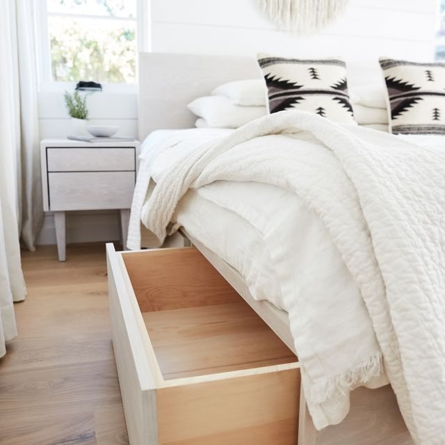 storage bed with drawers pulled out