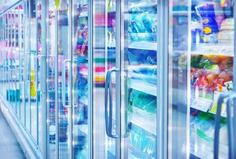 Store refrigerator in freezer aisle