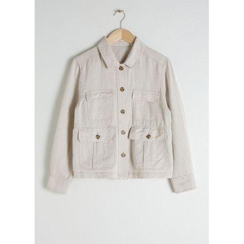 Linen Blend Workwear Jacket