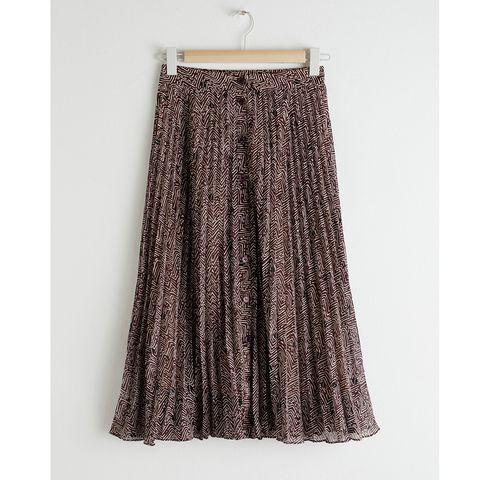 Stories Pleated Midi Skirt