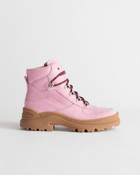 other stories chunky platform hiking boots