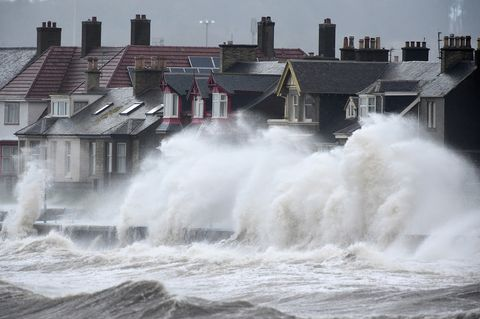 High Winds And Large Waves Hit The North West Coast Of The UK And Northern Ireland
