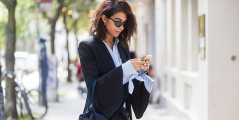 White, Clothing, Street fashion, Blazer, Black, Shoulder, Outerwear, Fashion, Jacket, Blue,