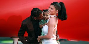 stormi kylie jenner travis scott red carpet