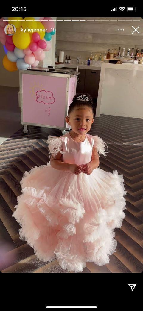 stormi in her third princess dress