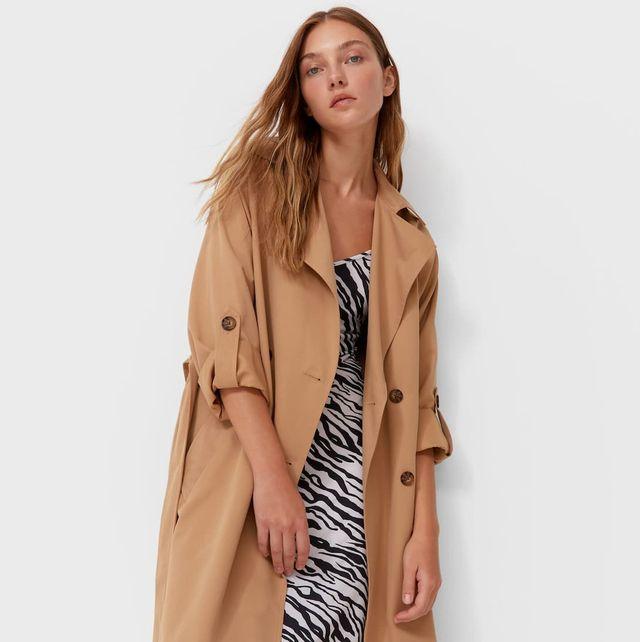 stradivarius abrigo largo
