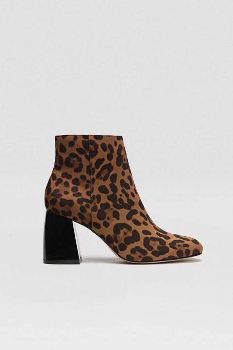 Botín leopardo Stradivarius
