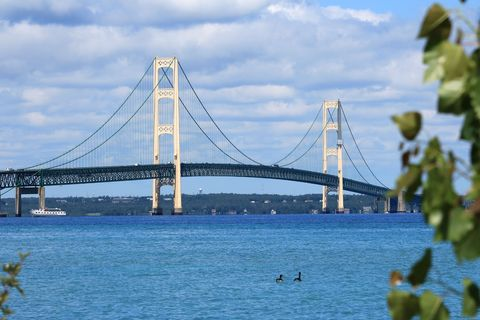 strait of mackinac bridge in northern michigan