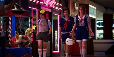 Uniform, Fashion, Leg, Fun, Thigh, Human body, Neon, School uniform, Human leg,