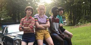 Stranger Things, Behind-the-Scenes, Series 3, Finn Wolfhard, Sadie Sink, Noah Schnapp and Caleb McLaughlin