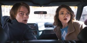 Natalia Dyer and Charlie Heaton in Stranger Things
