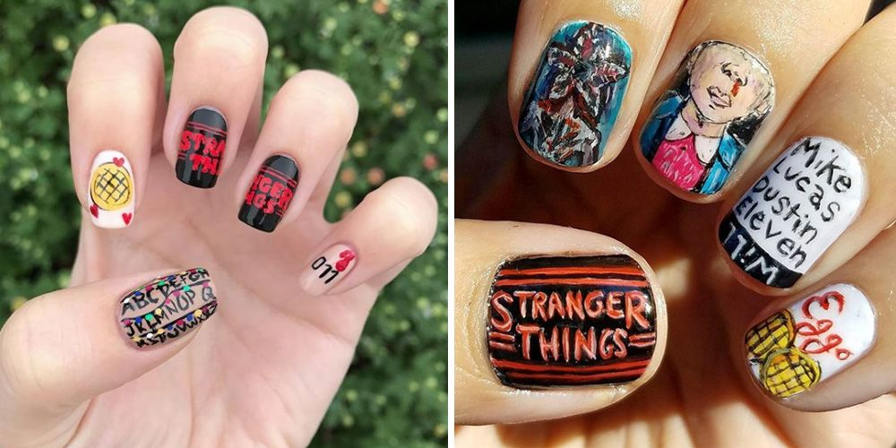Nailart And Things: These Stranger Things Inspired Nail Designs Are Totally