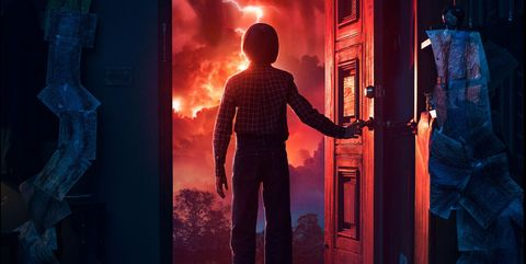 Red, Blue, Standing, Door, Electric blue, Fictional character,