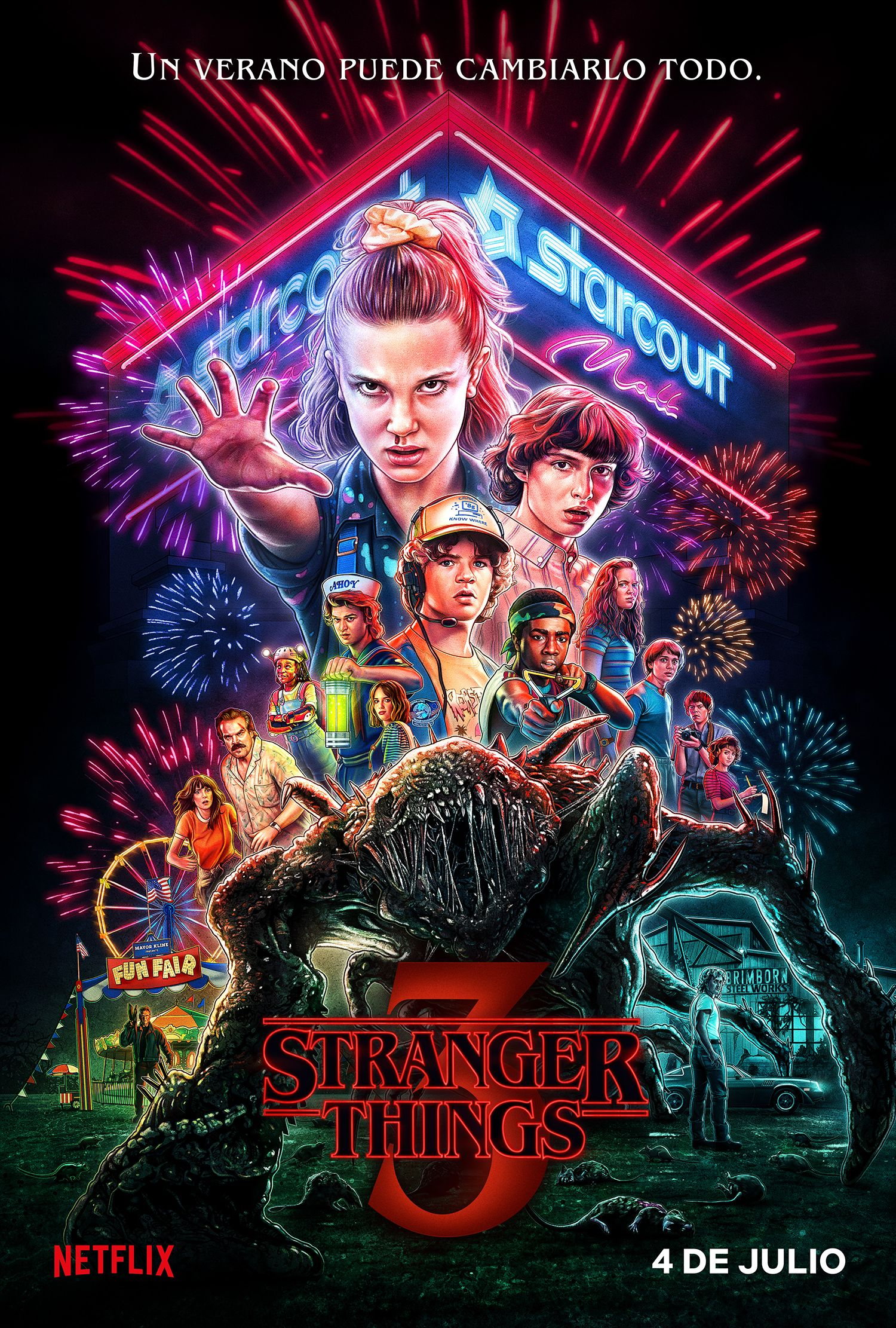 Resultado de imagen de stranger things 3 poster
