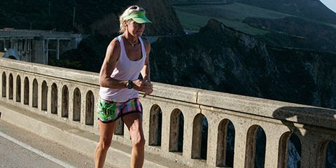 Wendy Bauwens runs Big Sur 21-Miler
