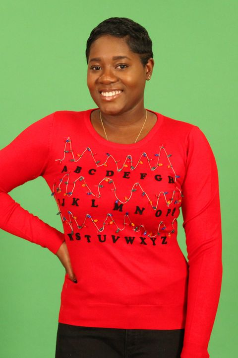 a5a02eddf515 'Stranger Things' DIY ugly Christmas sweater