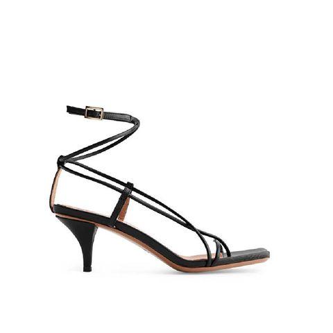 strappy sandaal met chunky hak arket