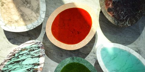 Carla Baz's marble pieces
