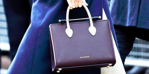 Handbag, Bag, Fashion accessory, Leather, Beauty, Fashion, Shoulder bag, Hand luggage, Luggage and bags, Material property,