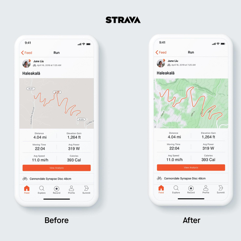 Nueva actualización de Strava