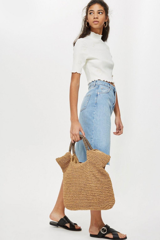 Holiday capsule wardrobe - straw bag