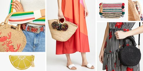 4aa97db1bfe6 14 Best Straw Bags for Summer 2018 - Cute Straw Handbags   Basket Bags