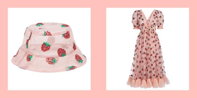 lirika matoshi strawberry dress bucket hat