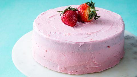 Homemade Strawberry Cake Horizontal