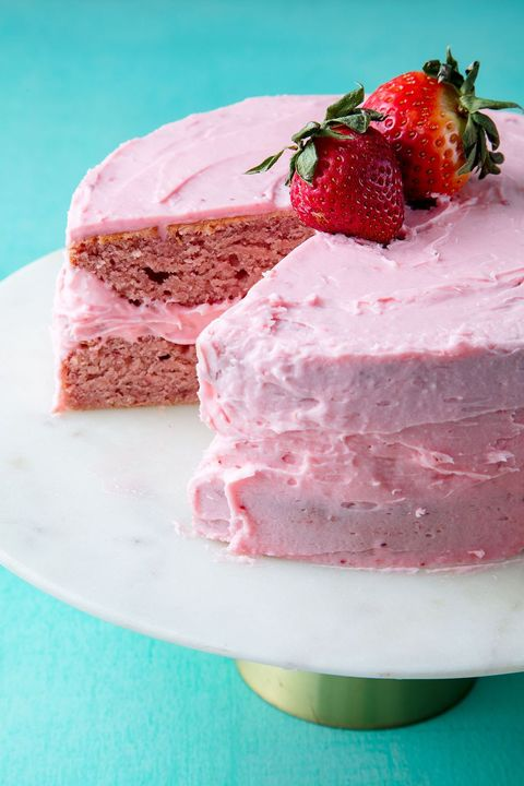 Strawberry cake vertical