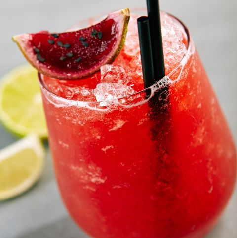 Strawberry Cocktail over Gray