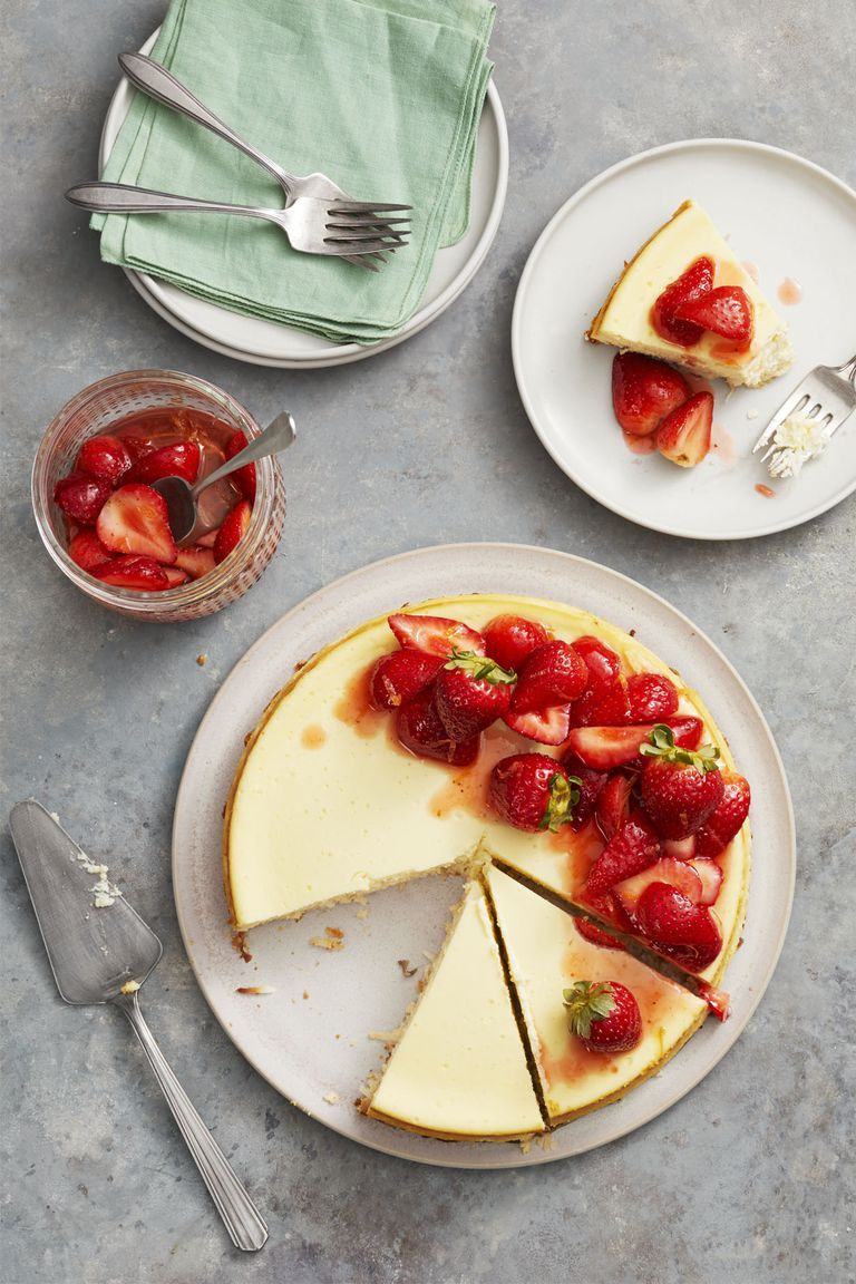 Strawberry Coconut-Crust Cheesecake - Mother's Day Desserts